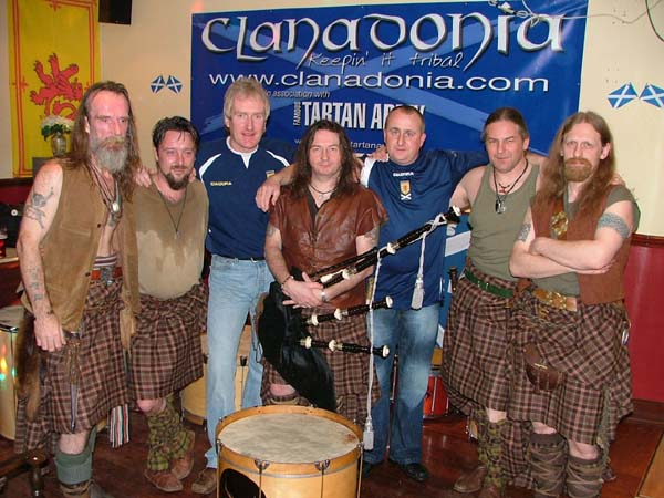 Clanadonia & Famous Tartan Army Magazine Kilmaurs HQ 2007.